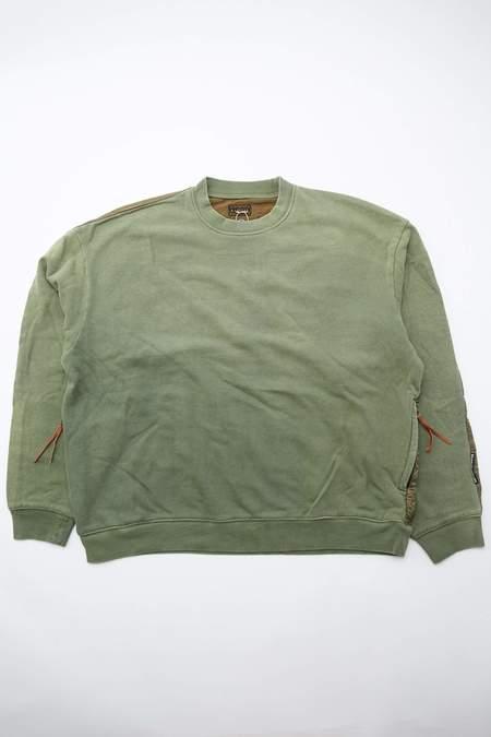 Kapital Fleecy Knit BIVOUAC BIG Sweatshirt - Khaki