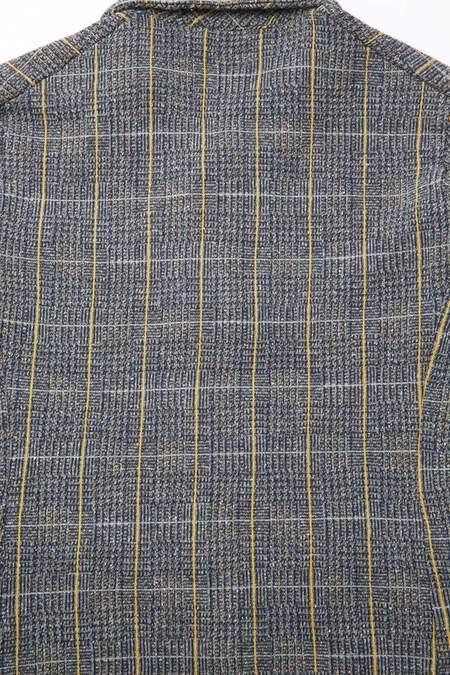 Kapital Tweed Fleecy Knit Kobe Jacket - Gray/Yellow