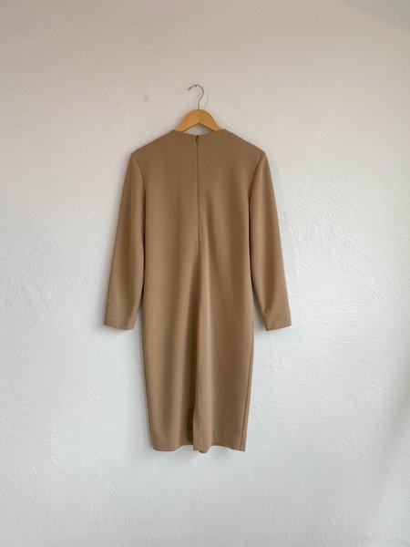 VINTAGEDescendant Minimalist Dress - Camel