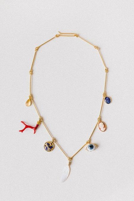 Grainne Morton Seven Wire Charm Necklace