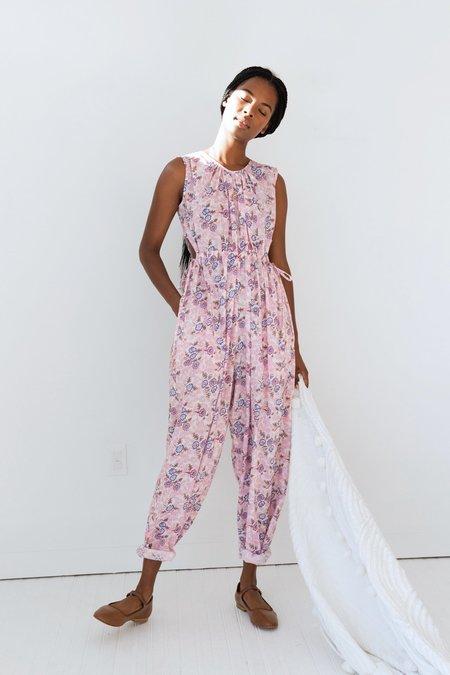 Caron Callahan Goa Jumpsuit - Pink Coral Floral