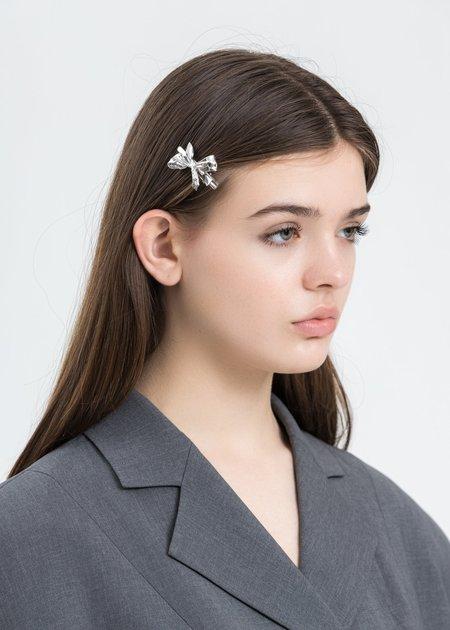 Shushu/Tong Wrinkle Bow Hairpin - Silver