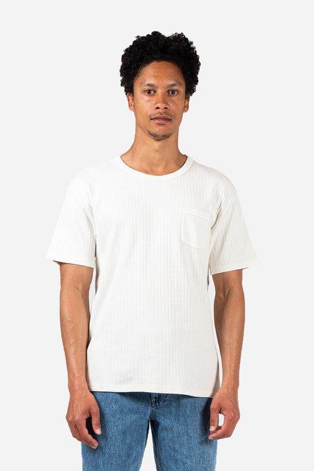 Knickerbocker The Ribbed Pocket T-shirt - Milk