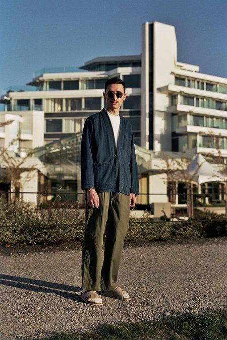 Universal Works  Herringbone Denim Kyoto Work Jacket - Washed Indigo