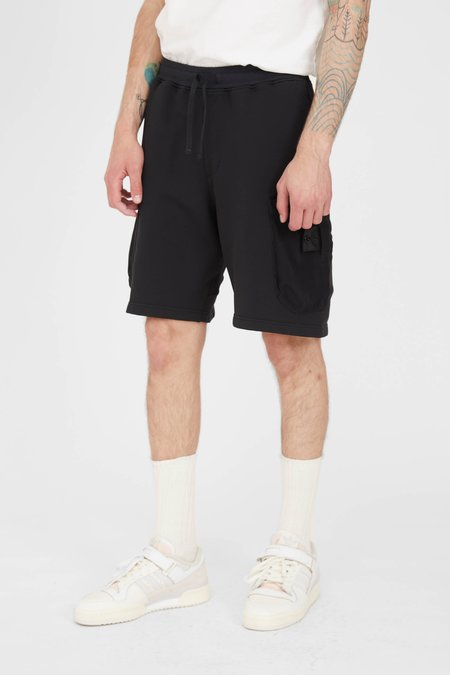 Stone Island Felpa Nylon Mesh Pocket Shorts - Black
