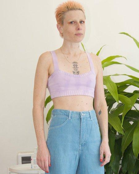 Deta Tie dye curve top - lilac