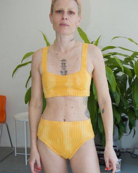 Deta Tie dye curve top - marigold