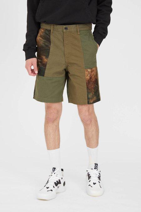 FDMTL Patchwork Shorts Rinse - Khaki