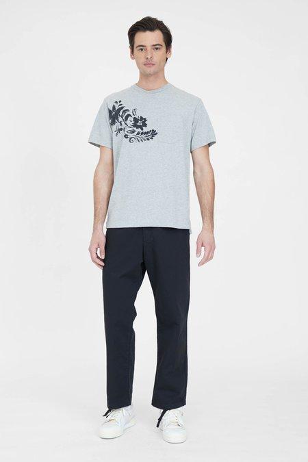Engineered Garments Printed Cross Crew Neck T Shirt - Grey Floral