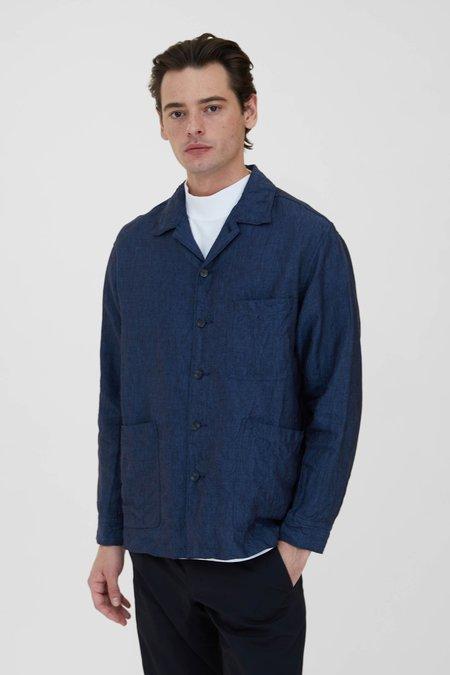 Sage de Cret Linen Shirt Jacket - Ink Blue