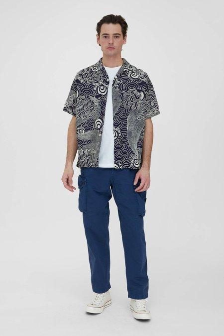 Orslow Turtle Print Hawaiian Shirt - Navy