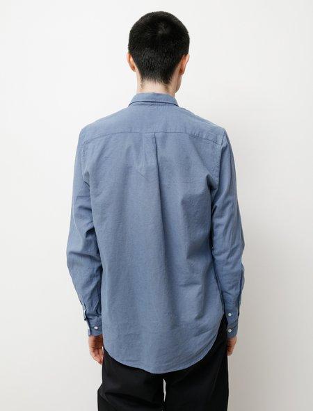 Norse Projects Osvald BD Cotton Linen shirt - Scoria Blue