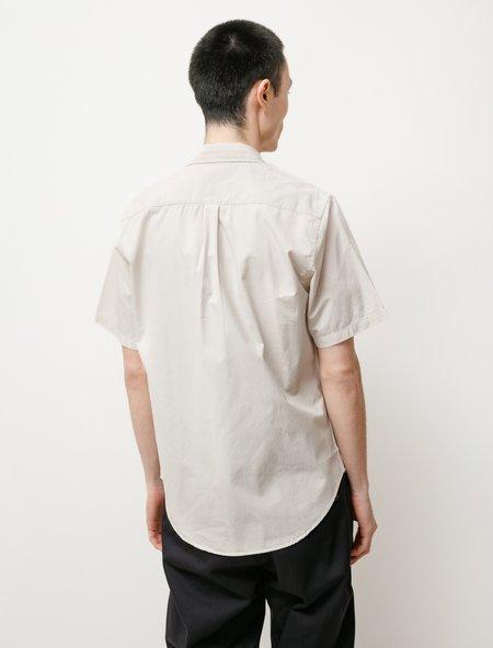 Osvald Micro Texture SS shirt - Oatmeal
