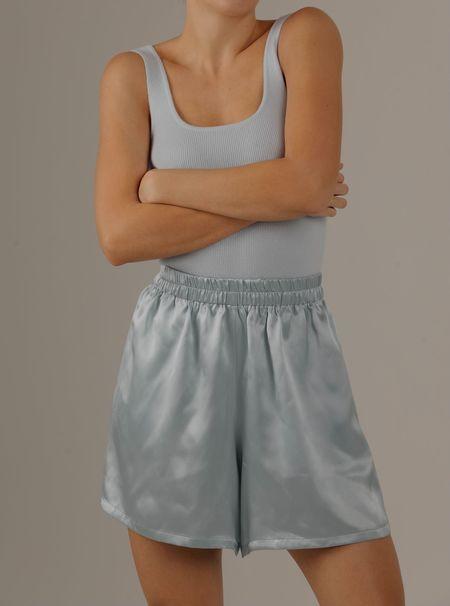 Parentezi Silk Shorts - Baby Blue