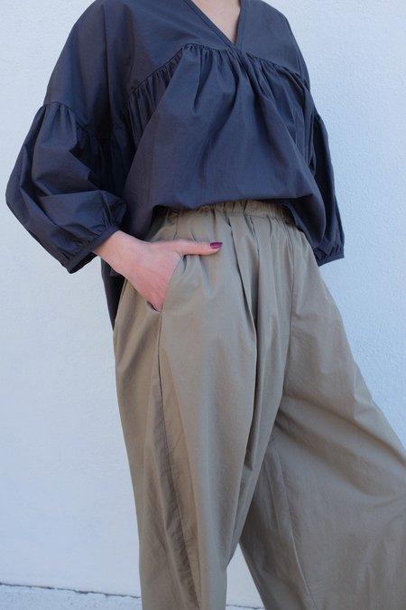 Black Crane Wide Pants - Clay