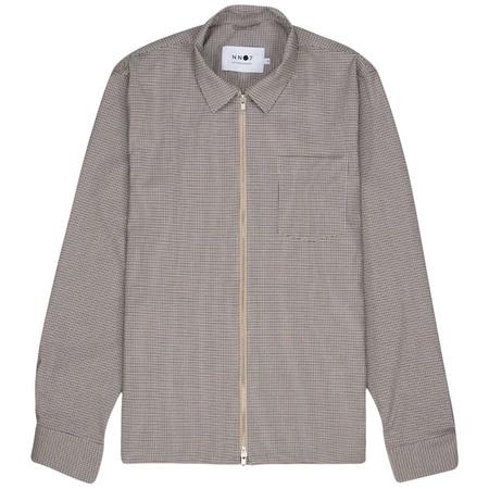 NN07 Zip Shirt - Camel Check