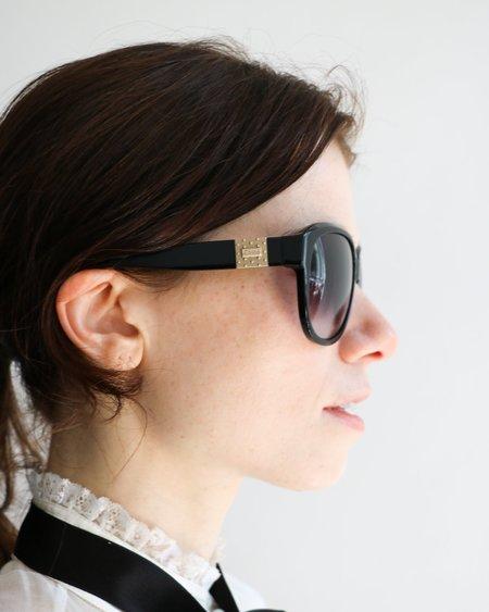 Pre-loved Chloé Round Frame Sunglasses - Black
