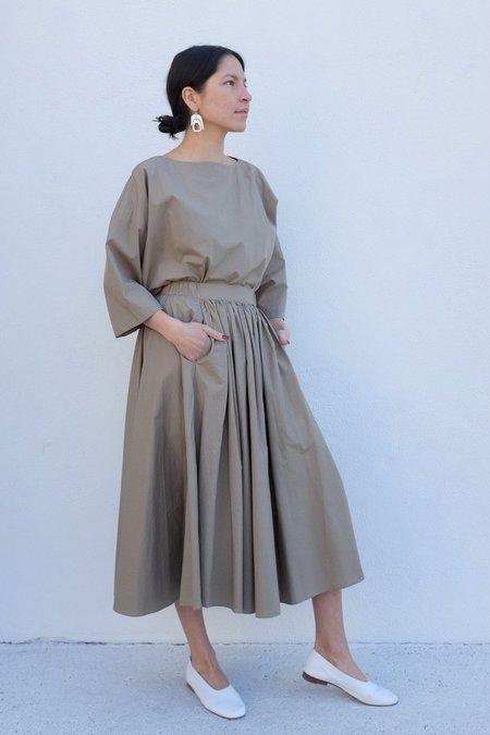 Black Crane Petal Skirt - Clay