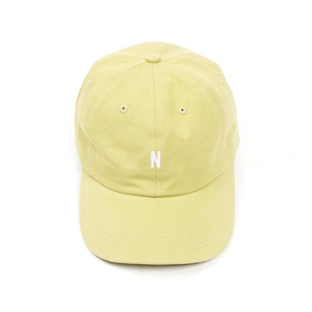 Norse Projects TWILL SPORTS CAP - CHARTREUSE GREEN