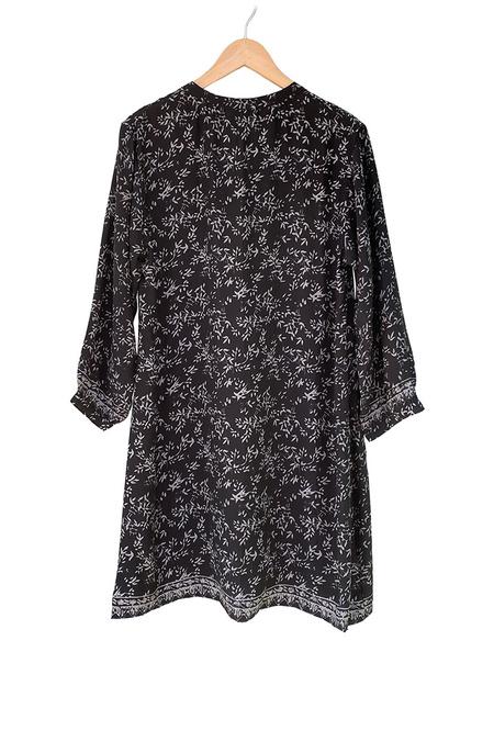 Natalie Martin Bamboo Print Sammie Short Dress - Black/White