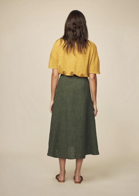 Diega Jumpo Linen Skirt - Olive Green