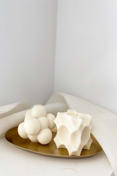 139 project Gift box set Organic Soy Wax and small Brassoval tray