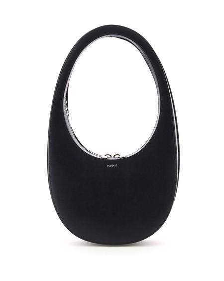 Coperni Swipe Black Leather Bag - black