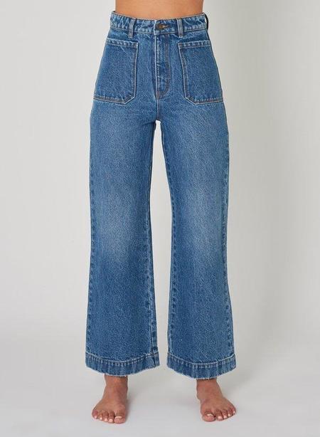 Rollas Jeans Sailor Hi-Rise Jean - Paris Blue