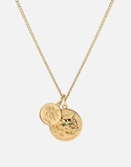 Miansai Tiger Eye Pendant Necklace - 14k Yellow Gold