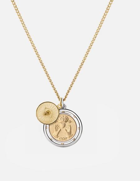 Miansai Test of Time Pendant Necklace - gold vermeil