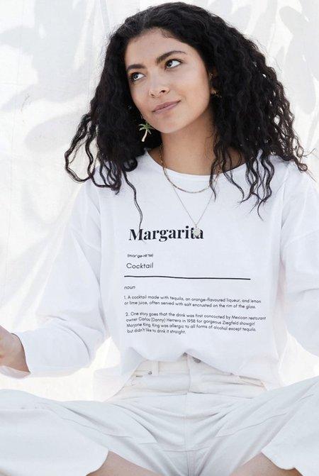 NEVER FULLY DRESSED Margarita Long Sleeve Tee - white