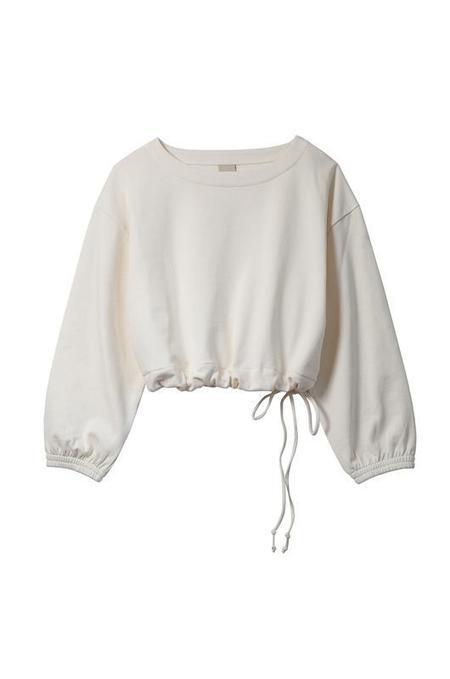 Soft Focus The Scrunch Sweatshirt - Ivory