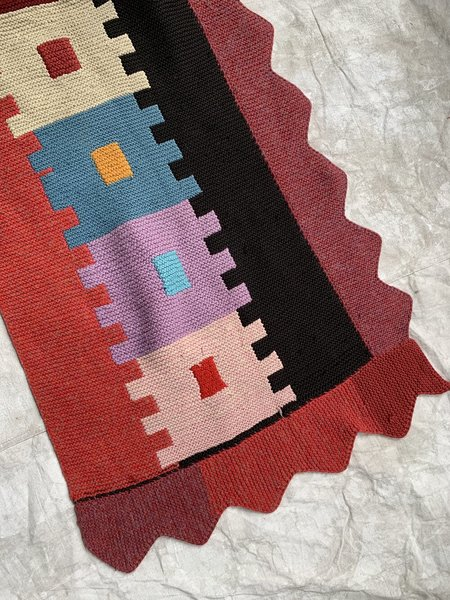 Vintage Knit Orlon Column Rug