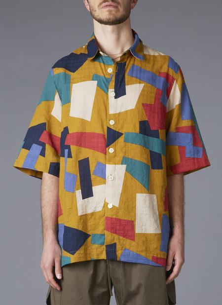 Grei. S/s Box Shirt - Amber Memphis Print