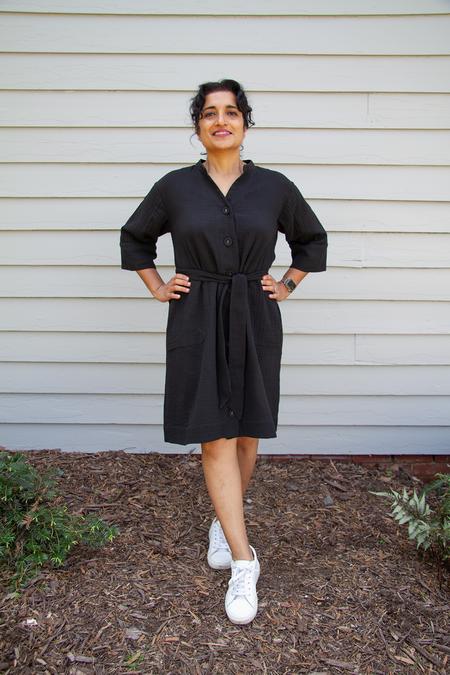 Bhoomki Duster Dress - Black