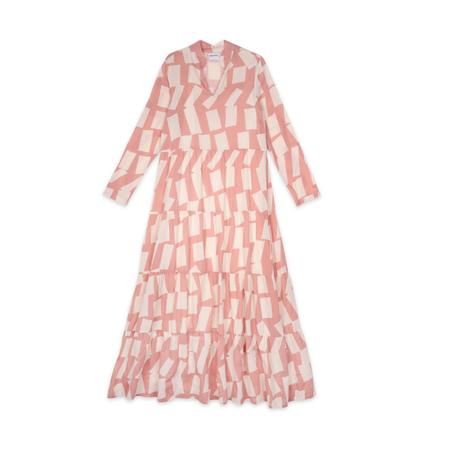 Bobo Choses Long Shadow Printed Flared Dress - Pink