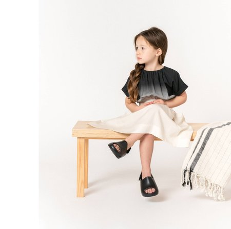 Kids Omamimini Ombre Caftan Dress - Black