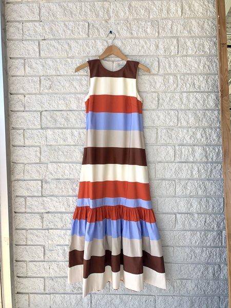 Lee Mathews Lina Striped Maxi Dress
