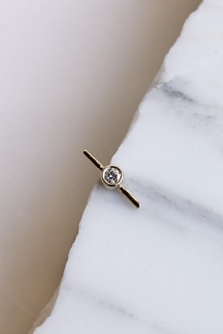 Quarry Hydra Stud Earrings in Gold/White Diamonds