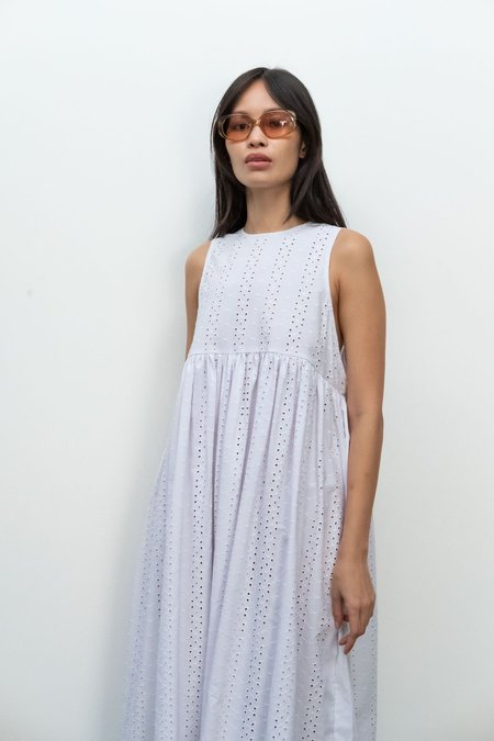 Kurt Lyle KLXTV Leora Dress - White Embroidered Eyelet