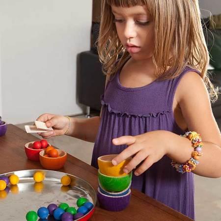 Kids Grapat Bowls & Marbles Sorting Game
