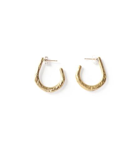 Rebekah J Designs Push Earrings - Brass