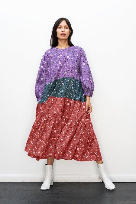 Kurt Lyle KLXTV Ayni Dress - Purple/Green/Rust Bandana