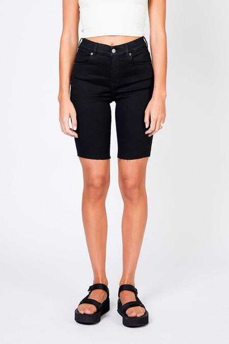 Dr. Denim lexy bicycle shorts - black