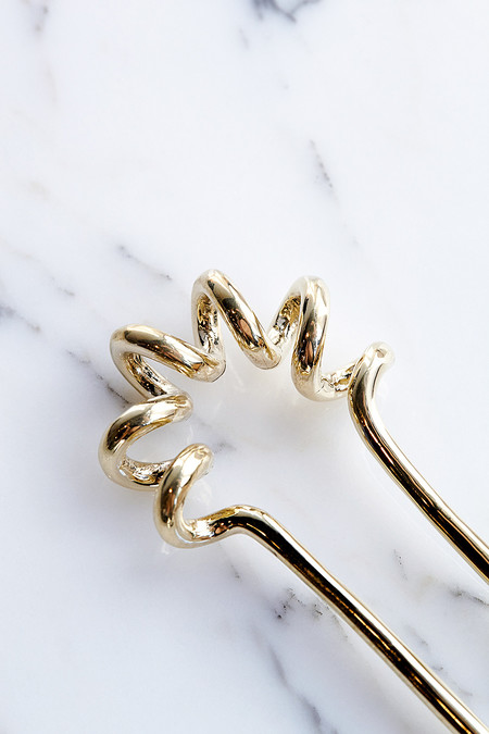 Quarry Large Spire Hairpin in Brass