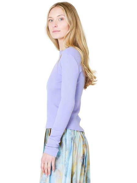 Re/Done 60s Slim Long Sleeve Tee - Orchid