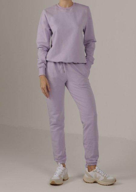 Parentezi Crew Neck Shoulder Pad Sweater - Lilac