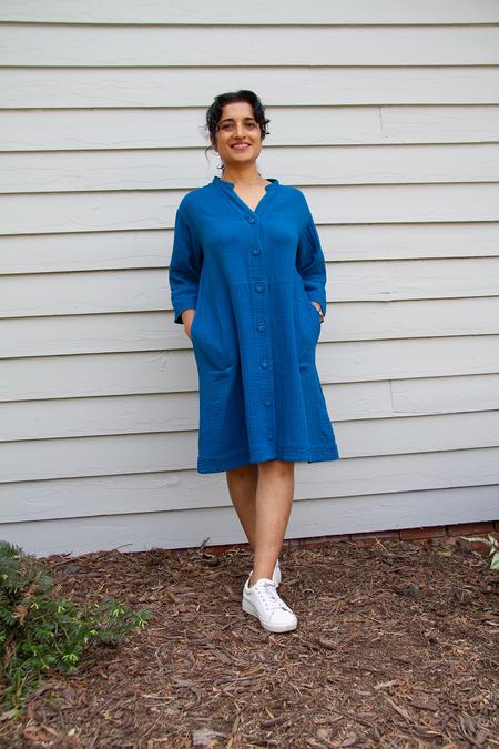 Bhoomki Duster Dress - Laguna Blue