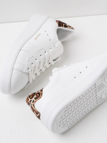 Golden Goose PURE STAR LEATHER LEOPARD sneakers - White/Brown Leo
