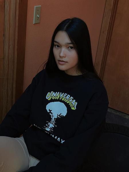 Unisex Brain Dead Universal Anti-Climax Sweatshirt - Black